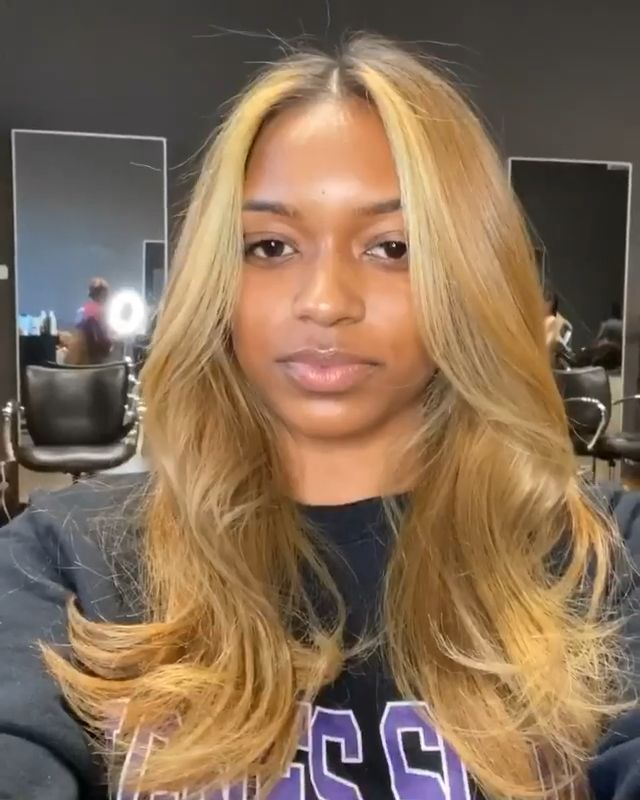 Lace Front Wigs Brown Wigs Blonde Wigs Natural Looking Blonde Highlights Blonde Ombre Wigs For Black Women