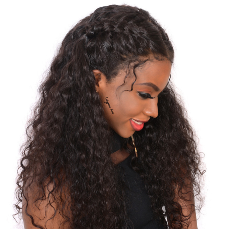 Closure Hair Wigs Full End Water Wave  Wigs