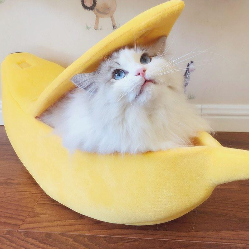 Cute Cat Banana Bed