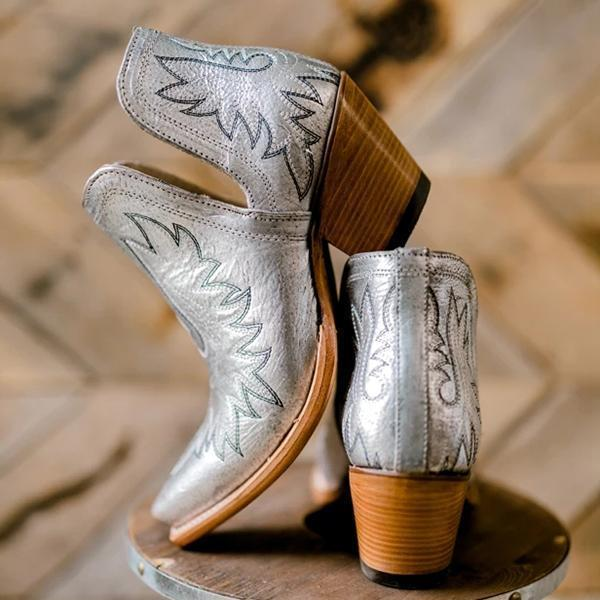 Lemmikshoes Women's  Western Distressed Leather Boots