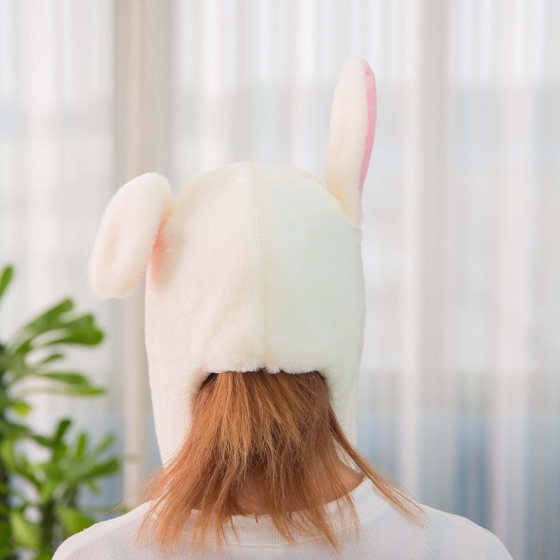 Vbiger Airbag Cap Bunny Hat Toy Hat with Moving Ears and Light
