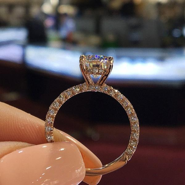 Timeless Elegance Classic Luxury Diamond Princess Ring