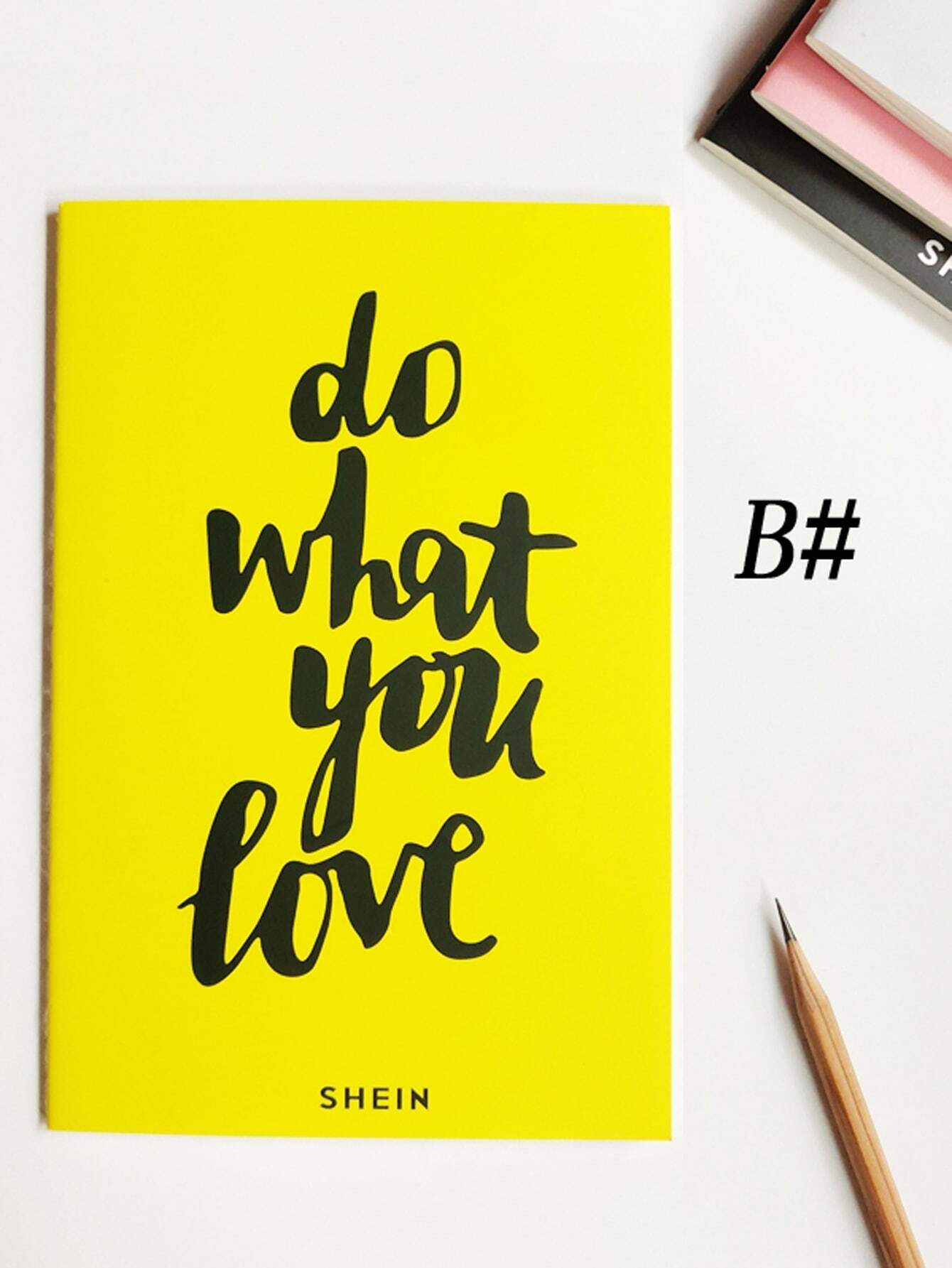 Slogan Print Cover Notebook 1pack