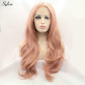 Lace Frontal Wigs Pink Blondish Pink Hair For Women