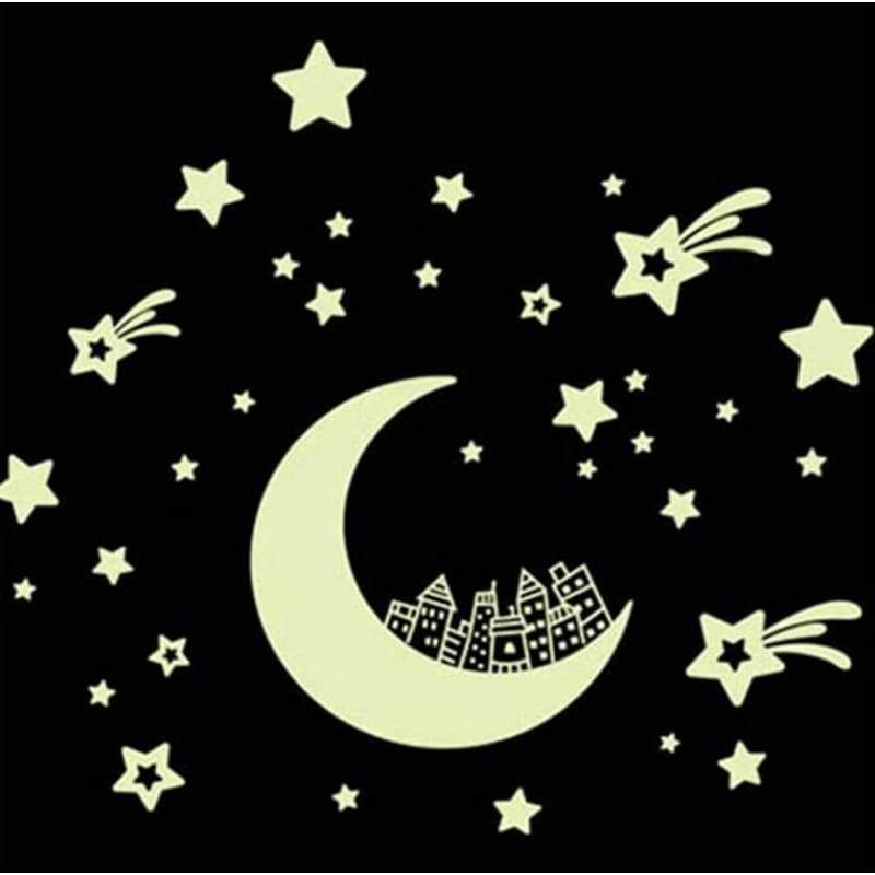 Home decor wall sticker luminous glow in the dark star decal room