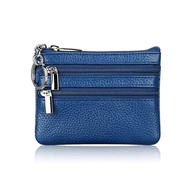 (Buy More Save More)Real leather, key, card coin purse