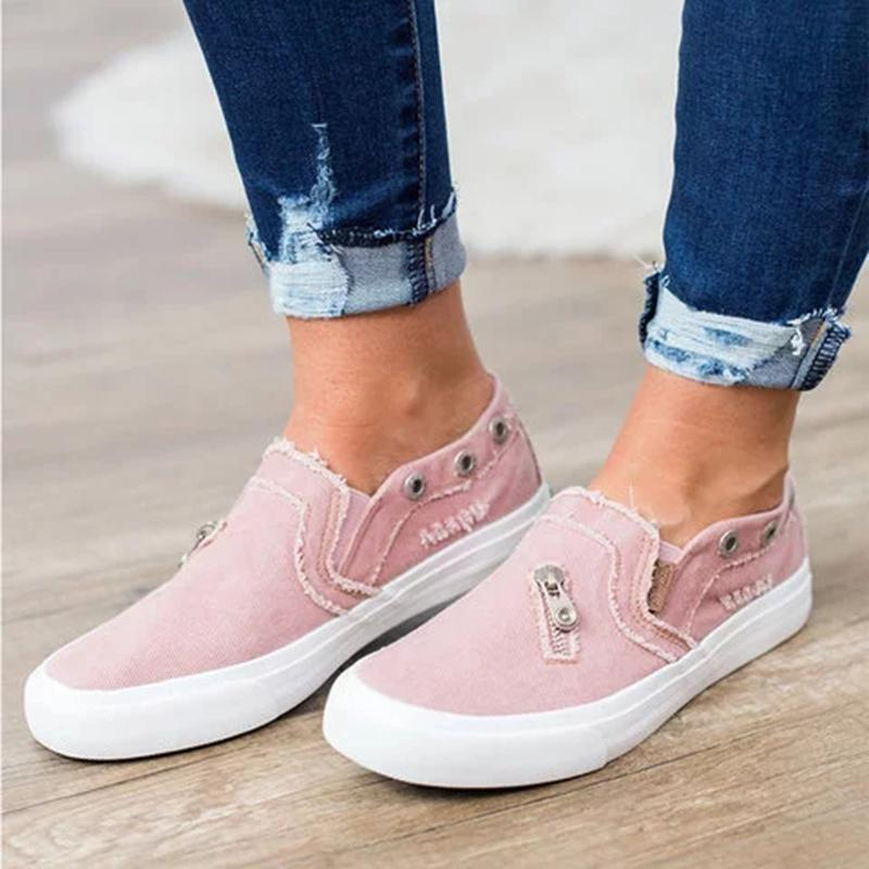 Women slip on sneakers canvas sneakers