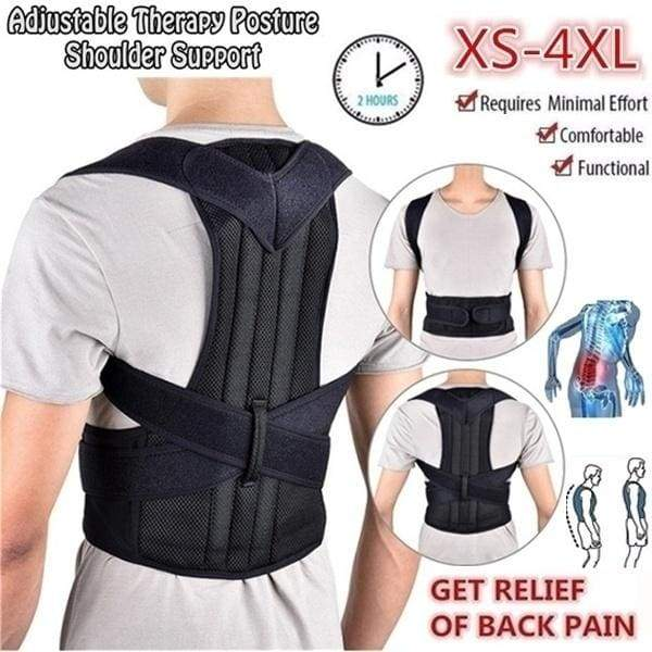 2019 New Professional Adjustable Adult Back with Men and Women Back Correction Band with Support Plate Kyphosis Correction Band