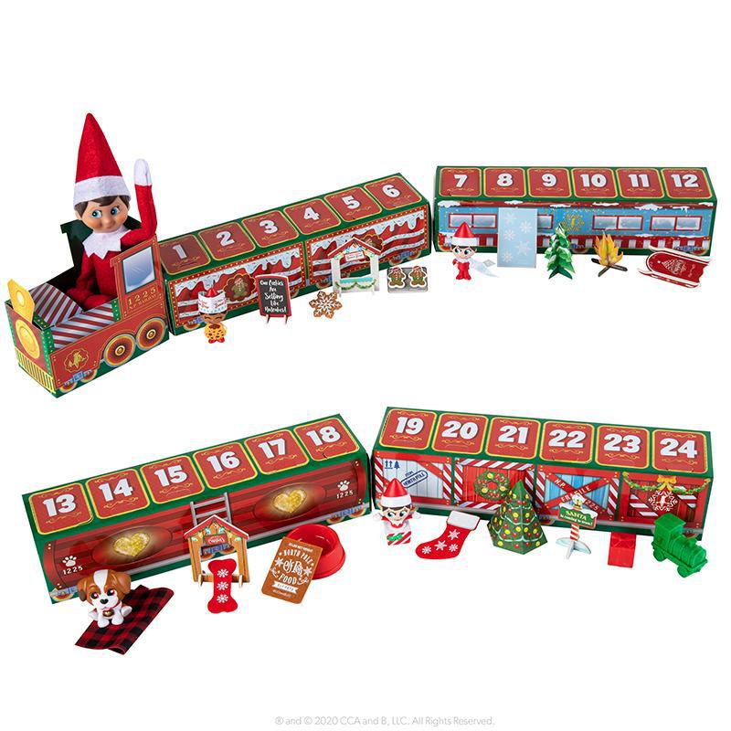 24 days countdown gift box Christmas elf train toy