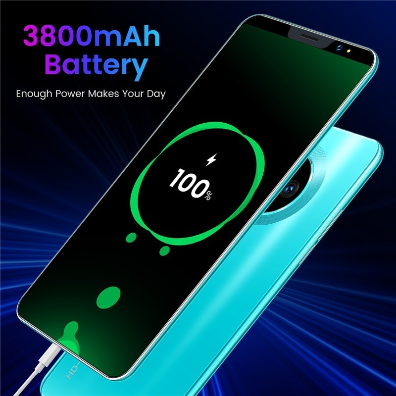 Mate33 Pro Smartphone with 4+64 GB Large Memory 5.8 Inch Screen Support Face/Fingerprint Unlock Dual SIM Mobile Phone