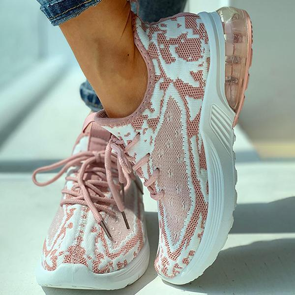 Lemmikshoes Polyester Knitted Colorblock Breathable Casual Sneakers