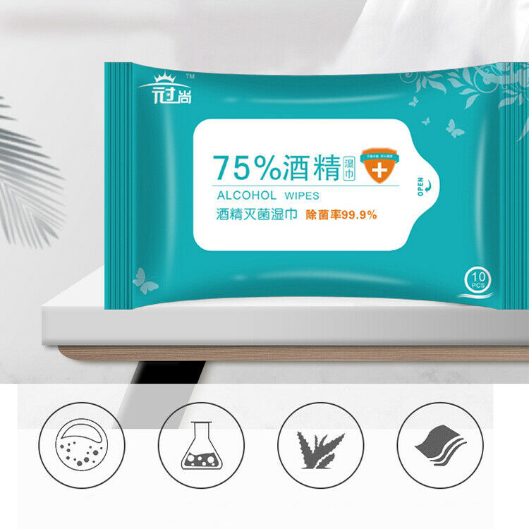 Vooknu Wet Wipes 75% Alcohol Skin Care