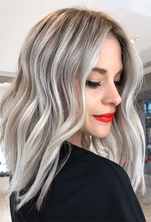 2021 New Lace Front Wigs Chestnut Hair Ariana Grande Gray Hair Lace Front Wigs For White Women