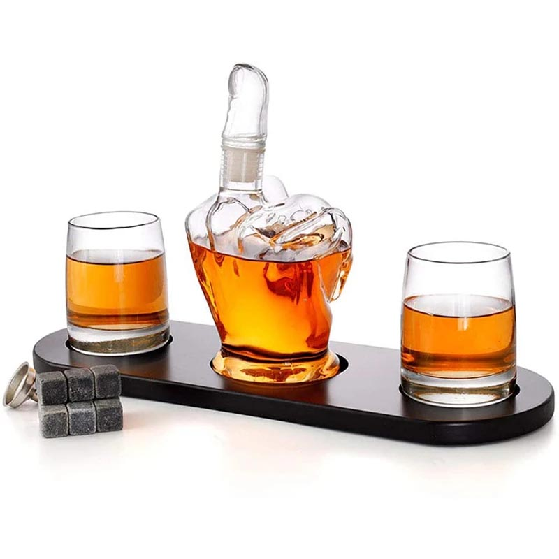 Handcrafted Middle Finger Decanter