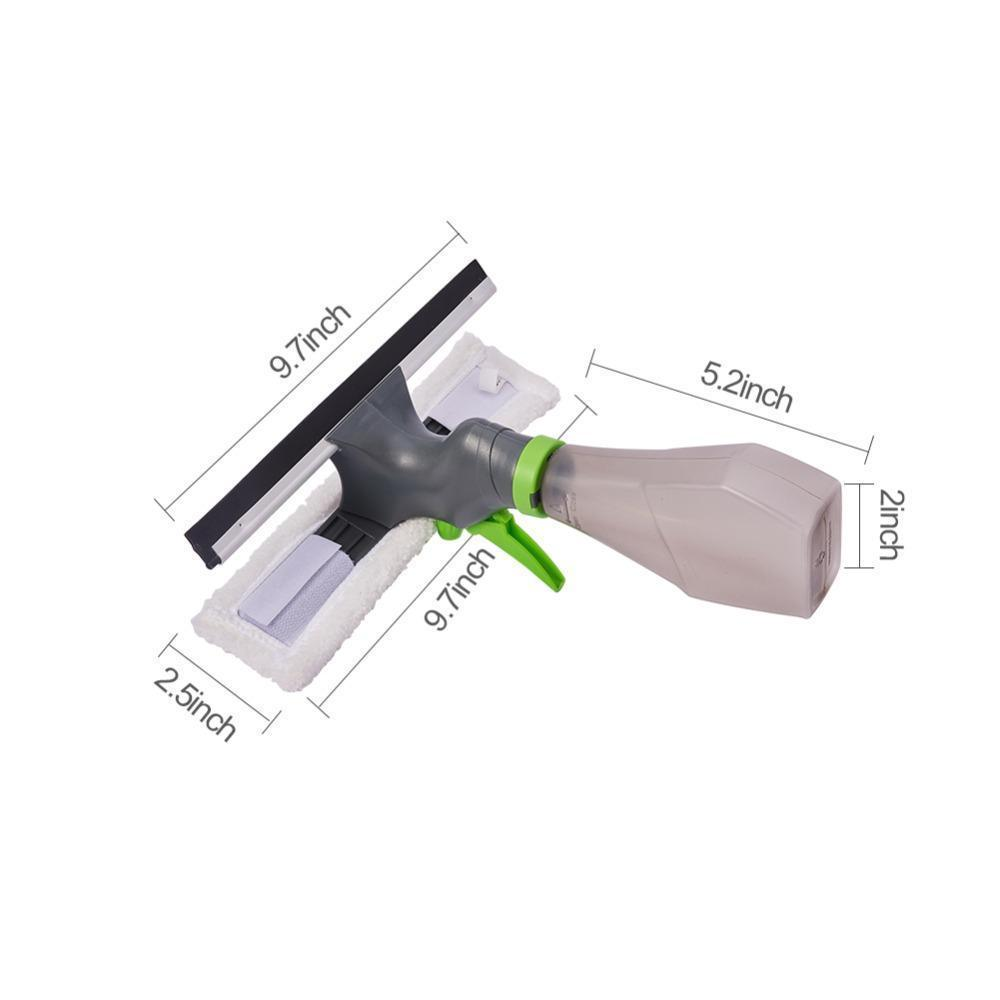 AHOME7 3-in-1 Spray Squirt and Squeegee Sponge Cleaner For Car Glass