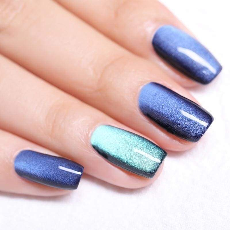 BORN PRETTY 5D Cat Eye Gel Nail Polish Starry Sky Rose Gold Magnetic Soak Off UV Gel DIY Manicure Magnet Nail Art Gel Polish Varnish