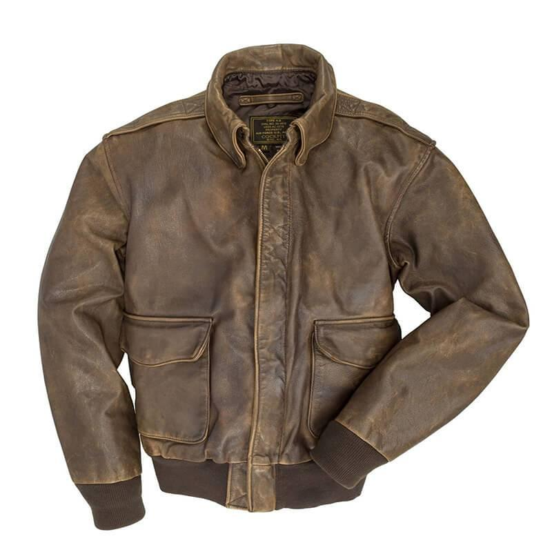 Men's flying leather jacket in autumn and winter