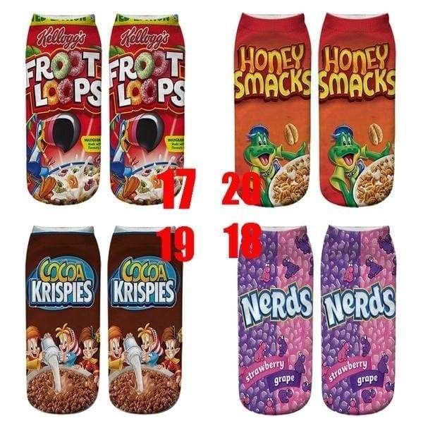 2020 upgraded version of the new version of potato chips 3D digital printing socks puffed food zero food in the tube hot cut socks