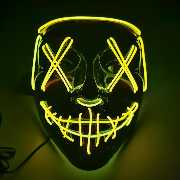 (👻 BUY MORE SAVE MORE 👹)LED Halloween Purge Mask