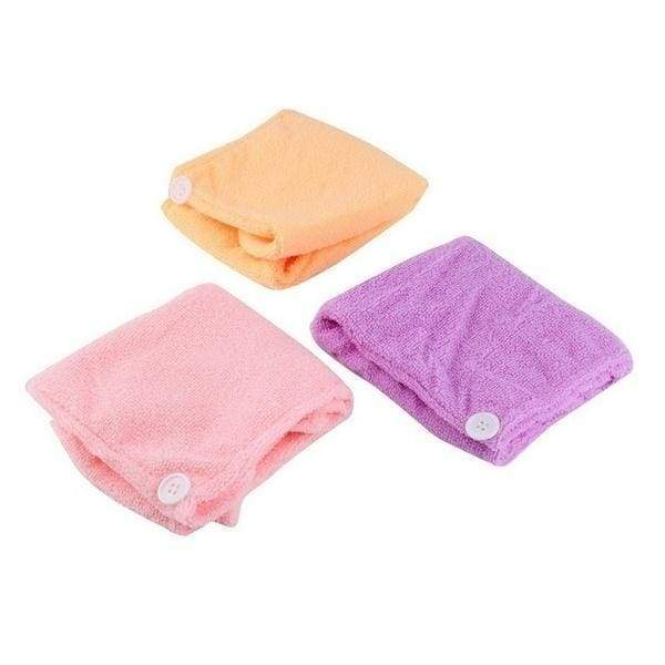 Microfibre After Shower Hair Drying Wrap Towel Quick Dry Hair Hat Cap Turban (color:Random)