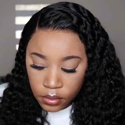 New Natural Curly Lace Front Basic Cap Wig