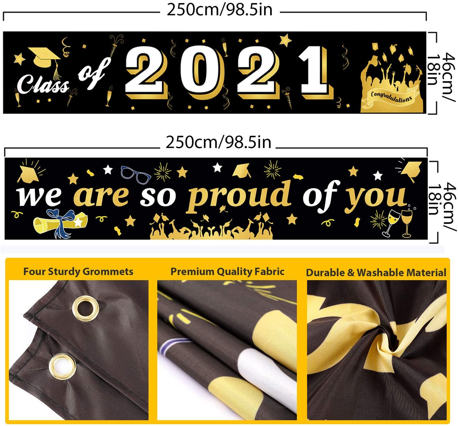 2021 Graduation Banners Party Backdrop For Indoor & Outdoor