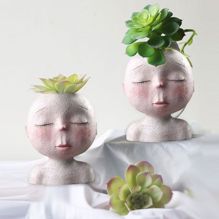 Nordic Closed Eyes Flower Pot(The Bset Plant Pot That Can Dress Up)