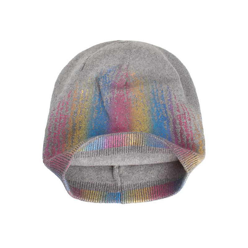 2019 New Simple Rabbit Fur Beanie Hat For Women Winter Warm Cap Colorful Female Cap Fur cap-1.20