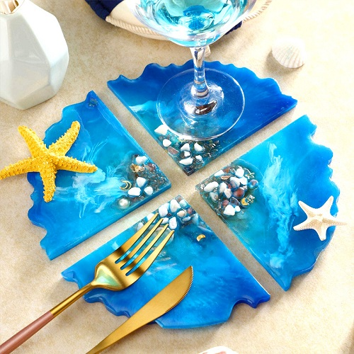 Crystal Epoxy Resin Coaster DIY Kit