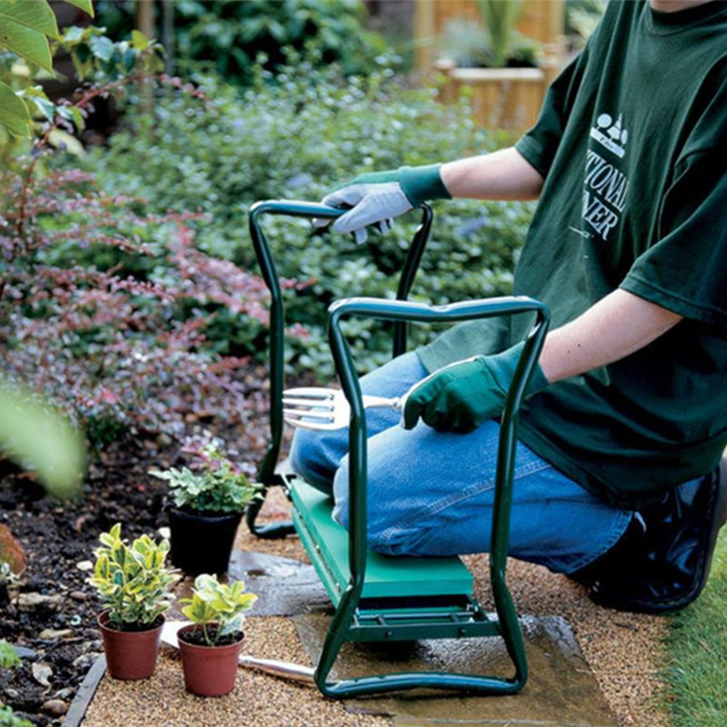 Multi-Functional Garden Kneeler & Seat With One Tool Pouch