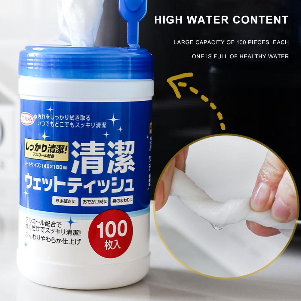 100 Pcs 75% Alcohol Wipes Portable Disinfectant Wipes Cleaning Wipes Antiseptic Cleaning Sterilization Wipes Wet Wipes For Home Office Car Use Value Pack