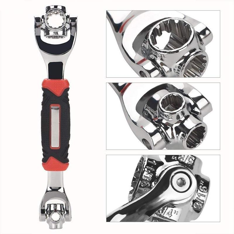 48-in-1 TIGER WRENCH with 360° Rotating Head