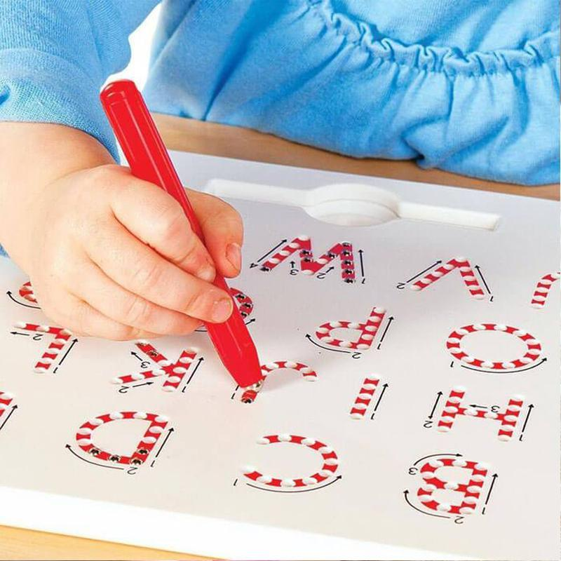 Magnetic Digital Alphabet Drawing Board Magnatab with Stylus Pen