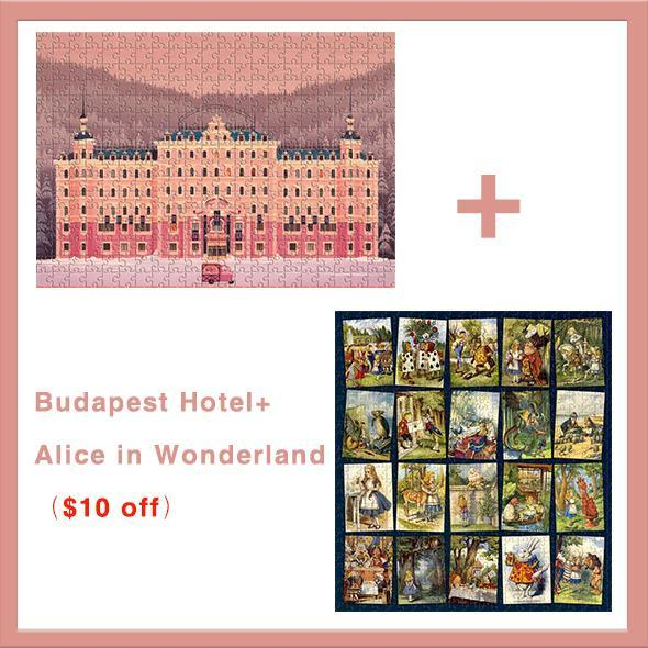 The Grand Budapest Hotel-1000 puzzle pieces