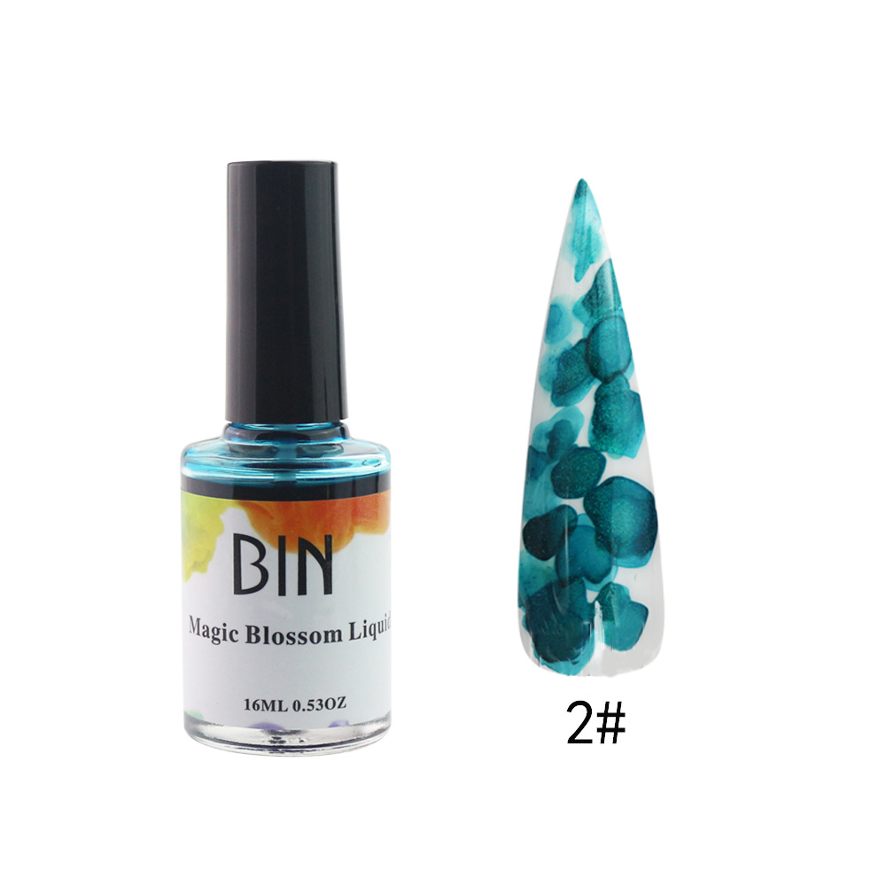 Nail Polish Smoke Color Halo Liquid Bubble Nail Metal Texture Ink Nail Polish 16ML