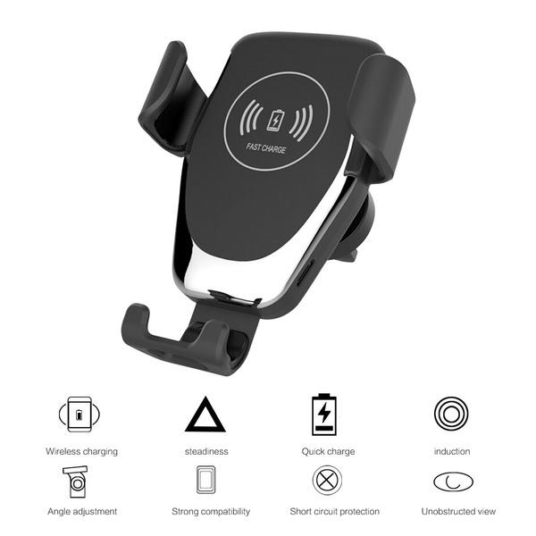 Qi Wireless Charger Car Air Outlet Holder 360 ?? Rotatable Smartphone Car Power Charger Dock for Iphoen X Xs Max Xr 8 Plus Samsung Galaxy Note9 8 S10 S9 S8 S7 S6 Plus Huawei P30 P20 Pro