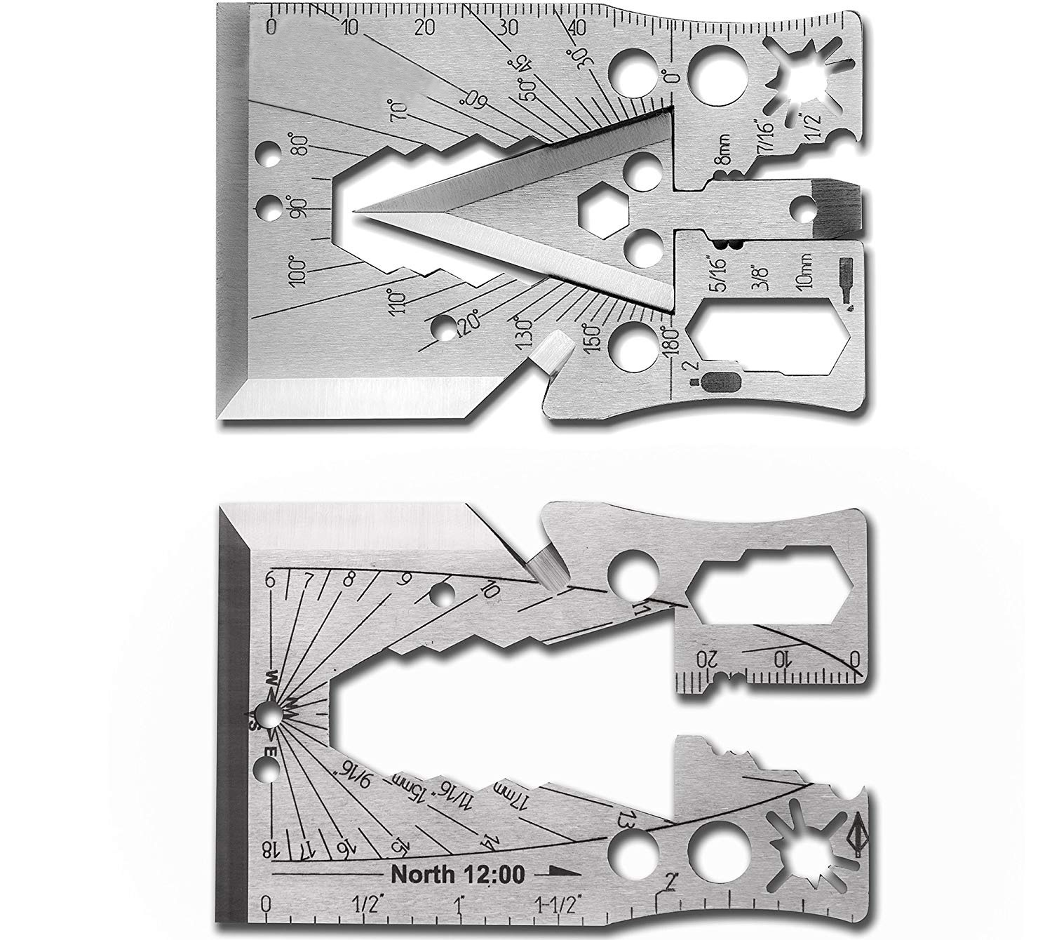 40+ Tools in 1 Multitool Credit Card Best as Survival Tool Knife Arrow Can and Bottle Opener Gift for Men