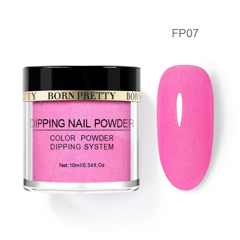 Summer Fashion BORN PRETTY Fluorescence Dipping Nail Powder Dust Natural Dry Glow In The Night