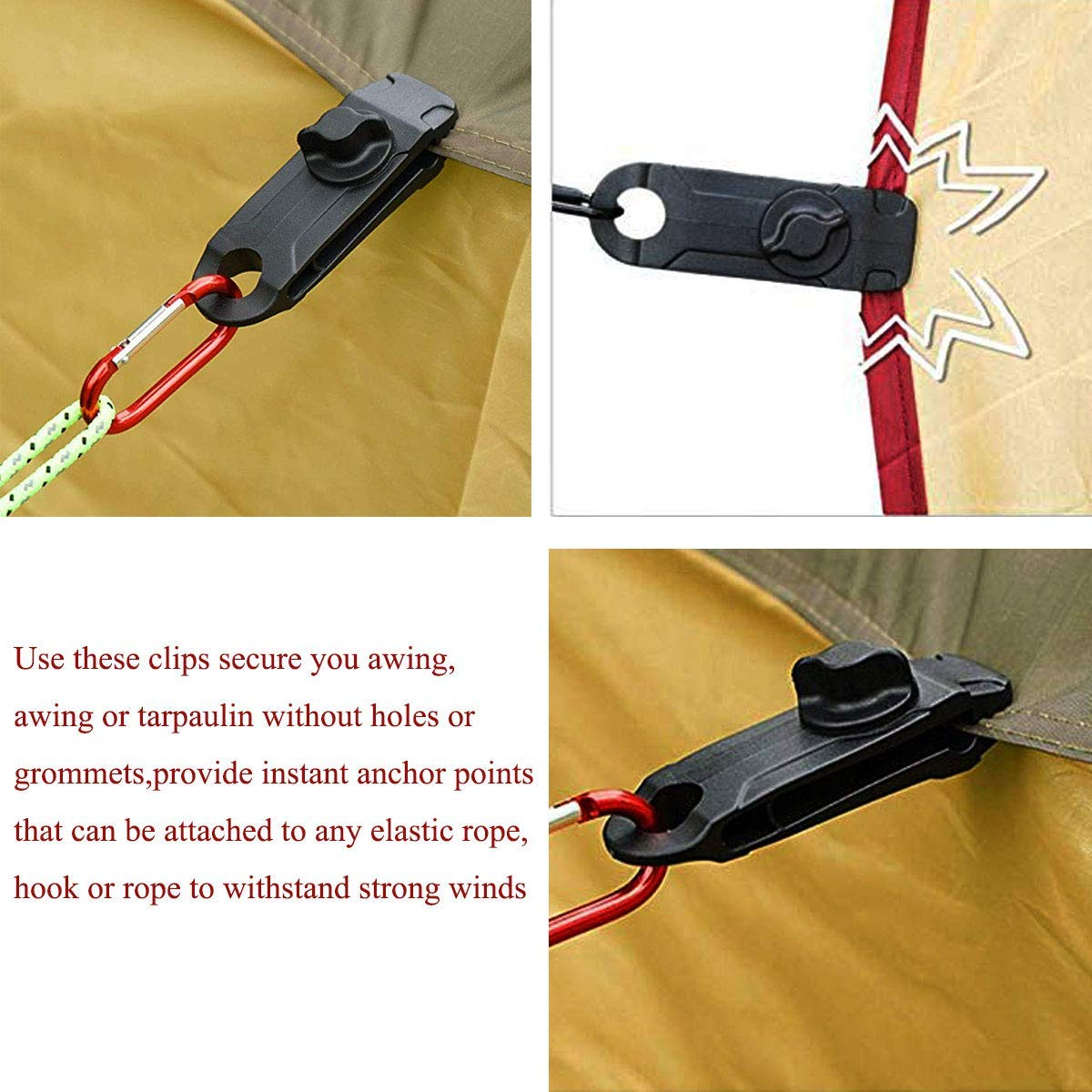 💥Fixed Plastic Clip For Outdoor Tent(10 PCS)💥