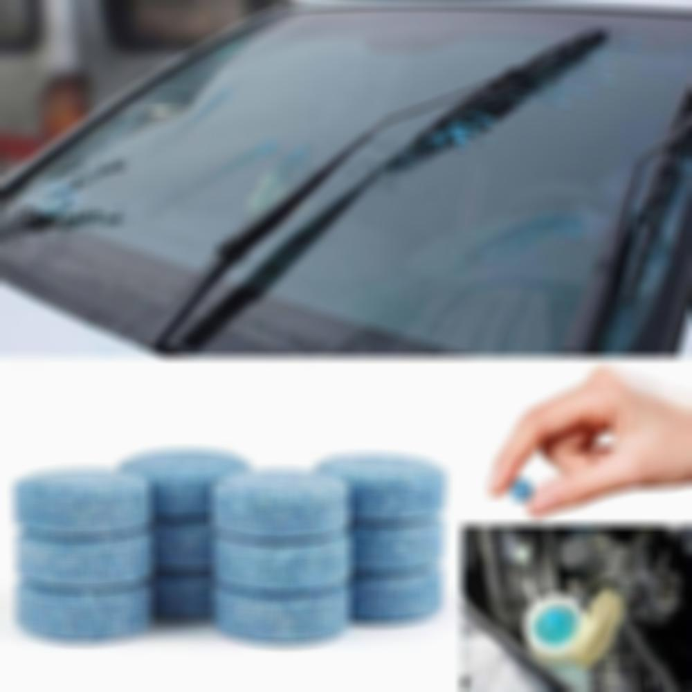Windshield cleaning water effervescent tablet