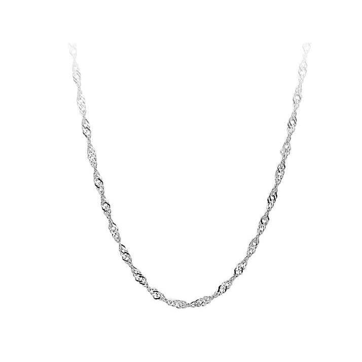 Jewelry 5pcs/lot 925 Sterling Silver Water Wave Chain Necklace (DIY Necklace)Size 16-30 inch
