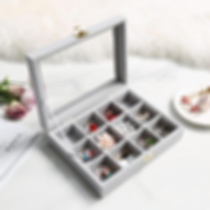 ( factory Outlet)Jewelry velvet necklace& rings storage case