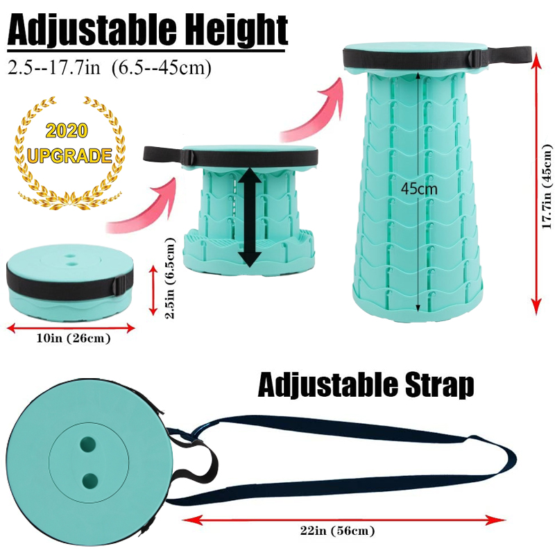 (Early Christmas Sale Free Shipping) 2020 New Retractable Folding Stool