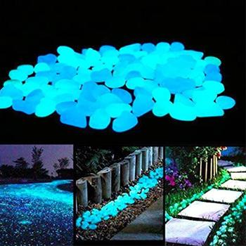Glow-in-the-Dark Garden Pebbles(100pcs)