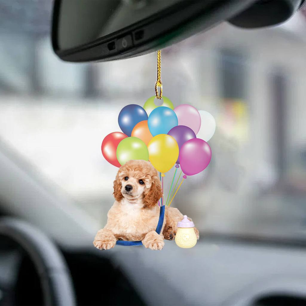 New Arrival Poodle fly with bubbles dog hanging ornament