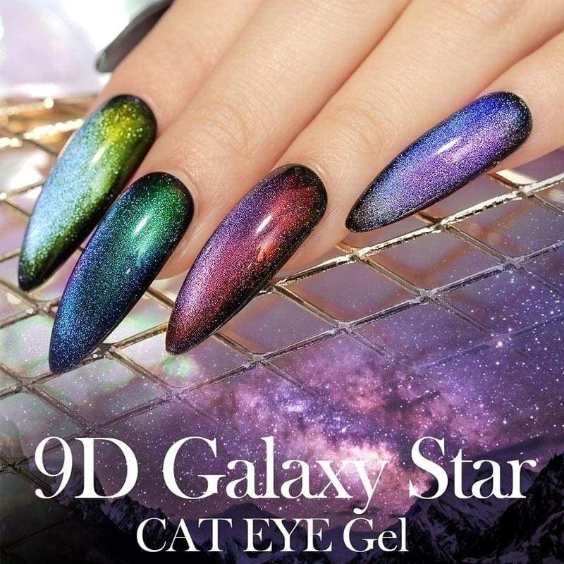 9D Galaxy Shiny Cat Eye Magnetic Gel Nail Polish Laser UV Gel