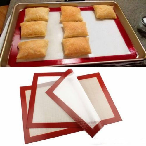 Useful Silicone Liner Mat Pastry Bakeware Baking Tray Liner Oven Dough Rolling Silpat 300*210*0.7mm