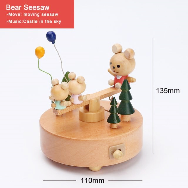 CAPRICE™ Handmade Wooden Rotating Music Boxes(🔥BUY 2 FREE SHIPPING)