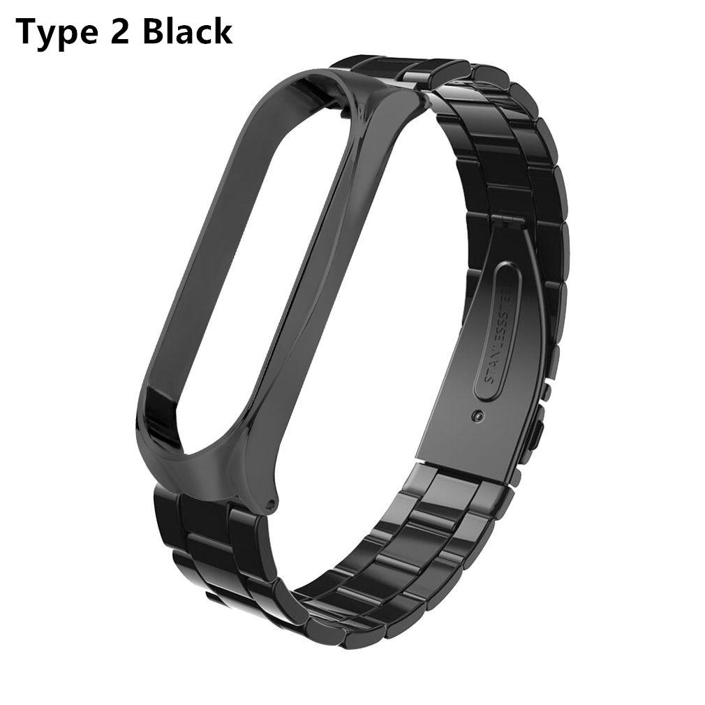 Magnetic Milanese Metal Watch Band Luxury Wrist Strap For Xiaomi MiBand 3 MiBand 4
