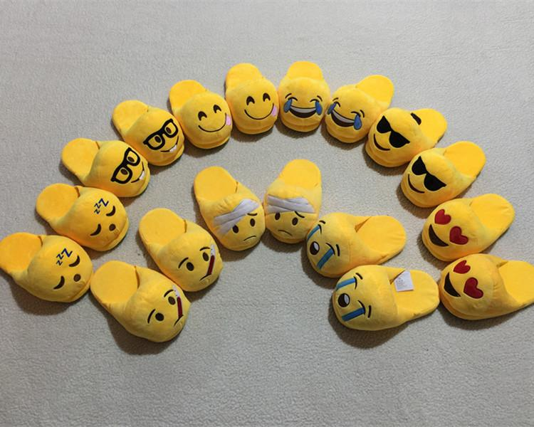 (Buy 3 Free Shipping and Buy 3 Get 1 Free)Emoji House Slippers Funny Soft Plush for Adults Kids Teens Bedroom Smiley Poop Comfy Socks Women Girls We Pay Your Sales Tax!